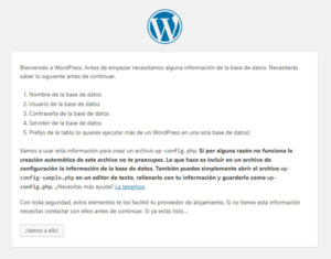 Instalar WordPress a Mano Paso 1