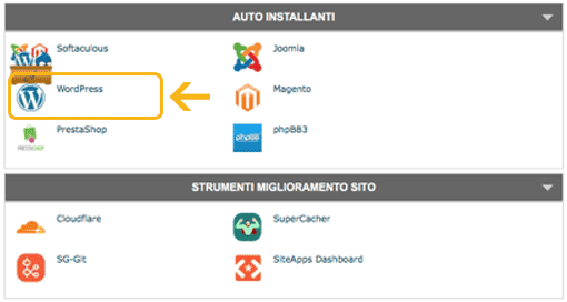 Installare WordPress cPanel