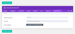 Entra Clave API Divi