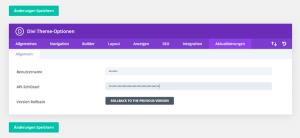 Elegant Themes API Schlüssel