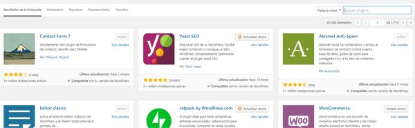 Añadir Plugin WordPress