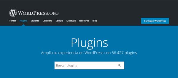WordPress.org Página de Plugins